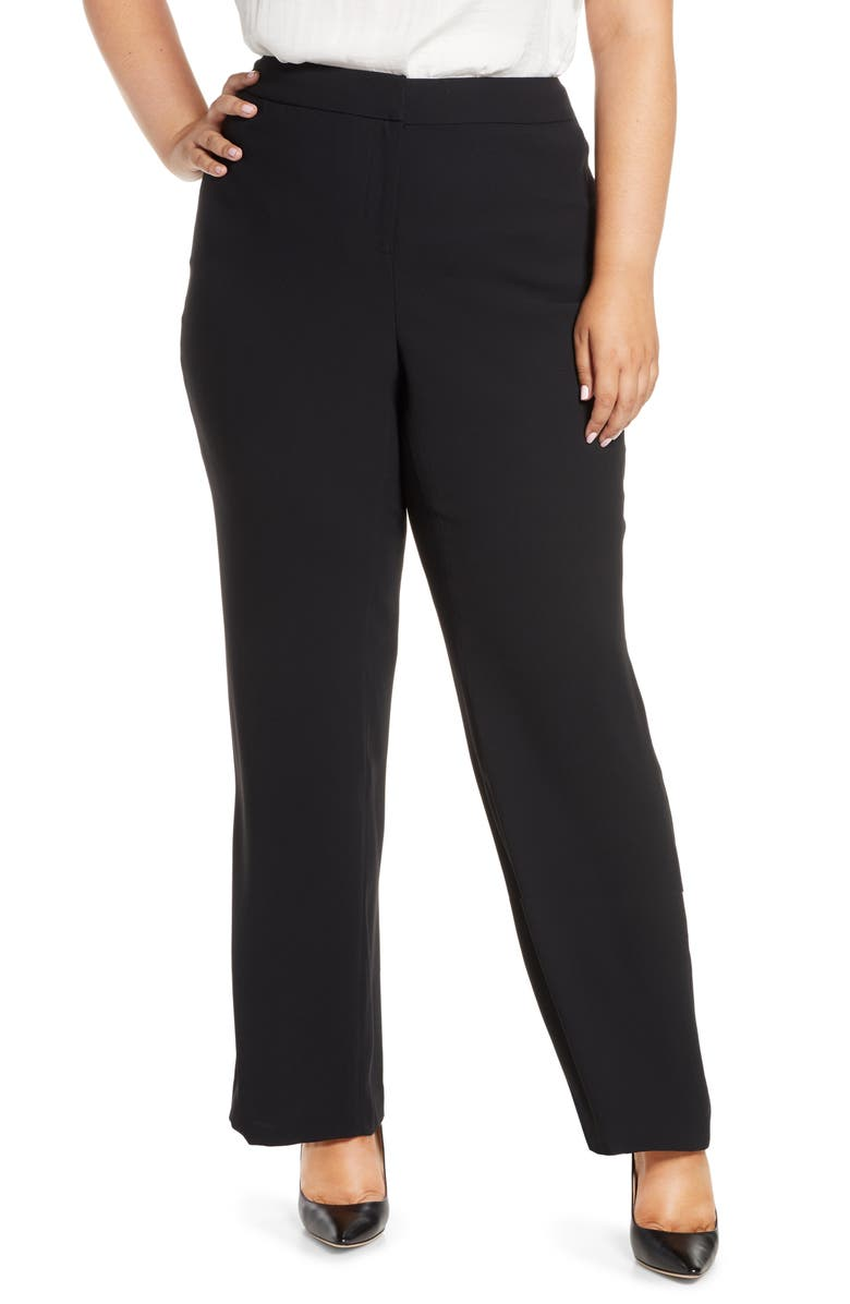 VINCE CAMUTO Moss Crepe Trousers, Main, color, 001