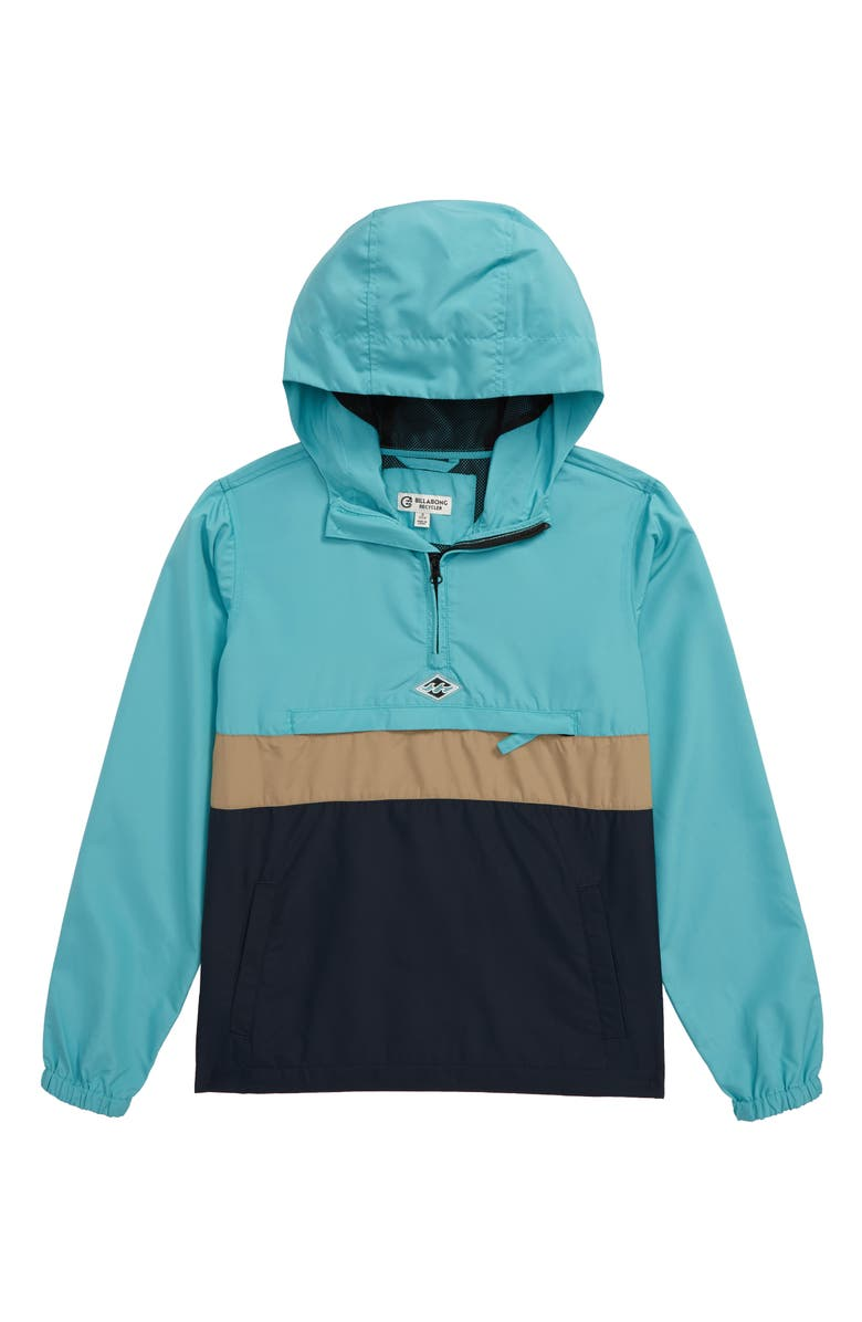 BILLABONG Wind Swell Recycled Polyester Blend Hooded Anorak, Main, color, 462