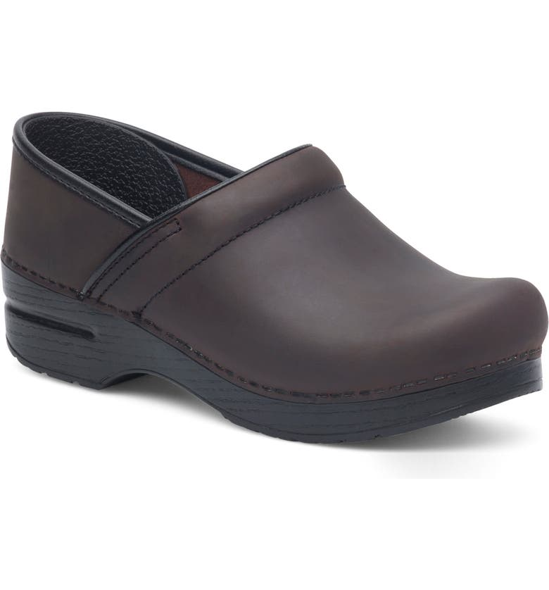 DANSKO 'Professional' Oiled Leather Clog, Main, color, ANTQ BROWN