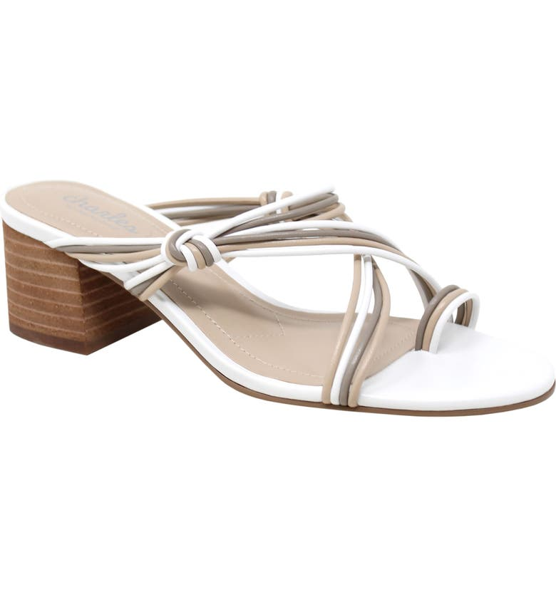 CHARLES BY CHARLES DAVID Captain Slide Sandal, Main, color, NATURAL FAUX LEATHER