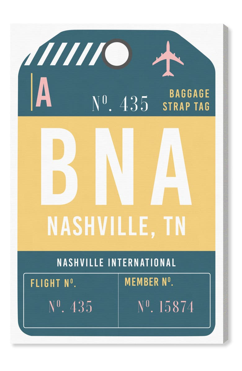 OLIVER GAL Nashville Luggage Tag Wall Art, Main, color, 700