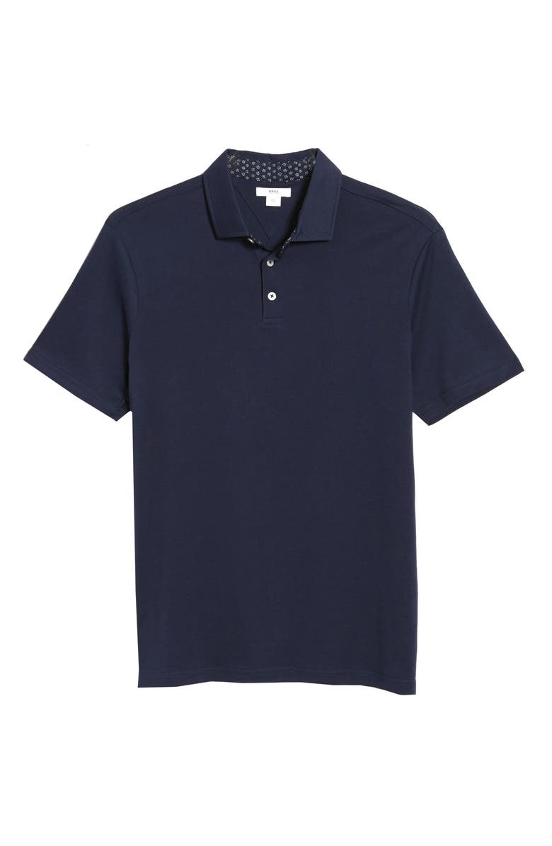 BRAX Pepe Solid Cotton Polo, Main, color, OCEAN