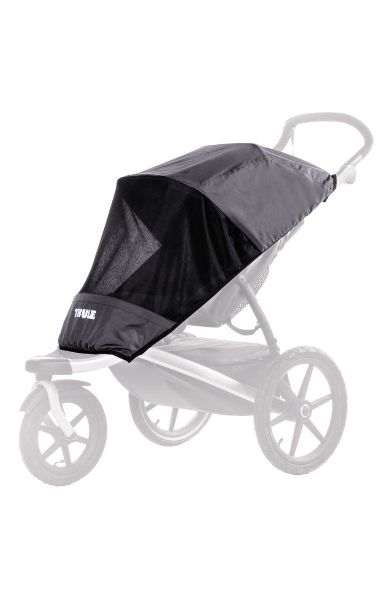 THULE Glide Series Mesh Stroller Cover, Main, color, DARK SHADOW