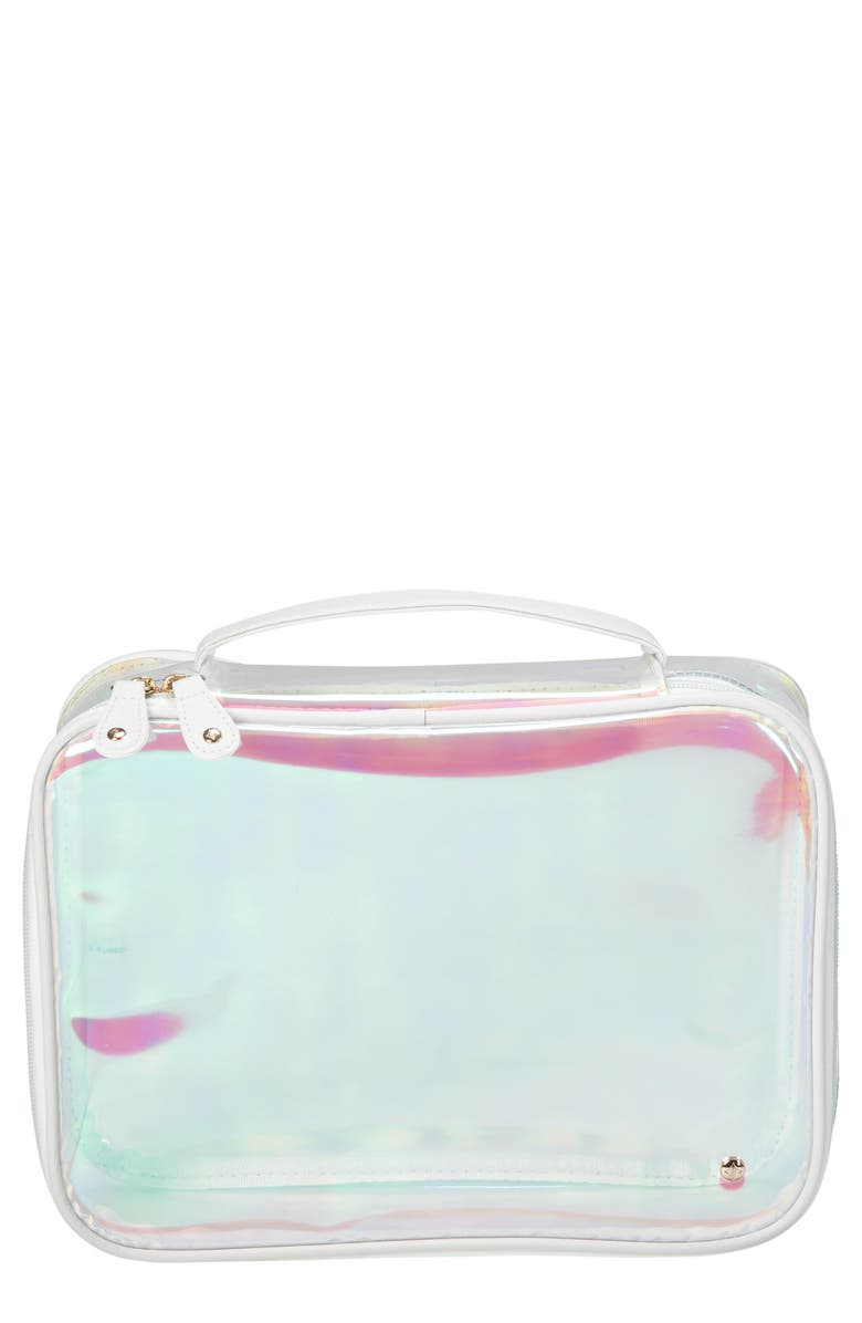 STEPHANIE JOHNSON Miami Claire Jumbo Cosmetics Case, Main, color, WHITE