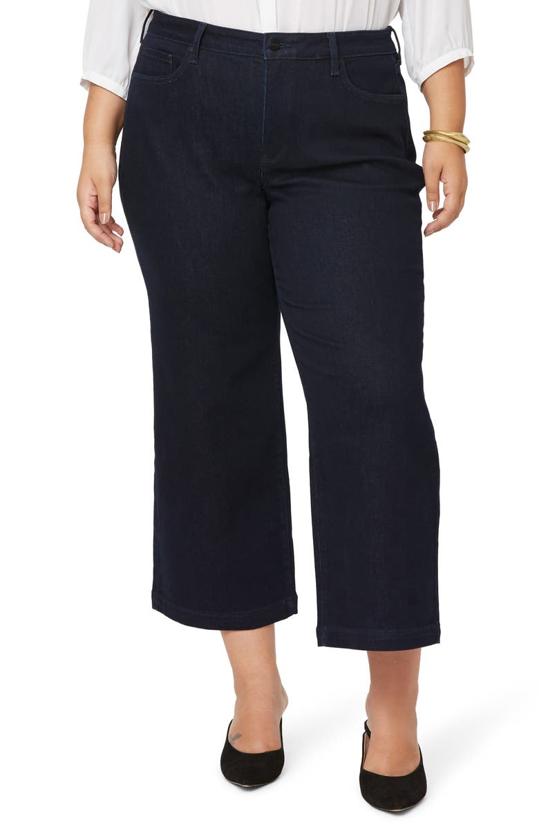 NYDJ Teresa Ankle Wide Leg Jeans, Main, color, RINSE
