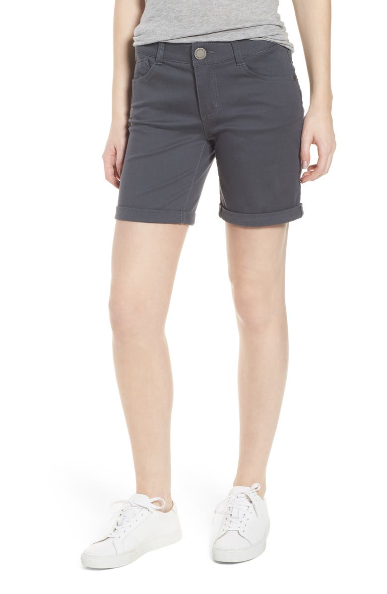 WIT & WISDOM Ab-Solution Stretch Twill Shorts, Main, color, 050