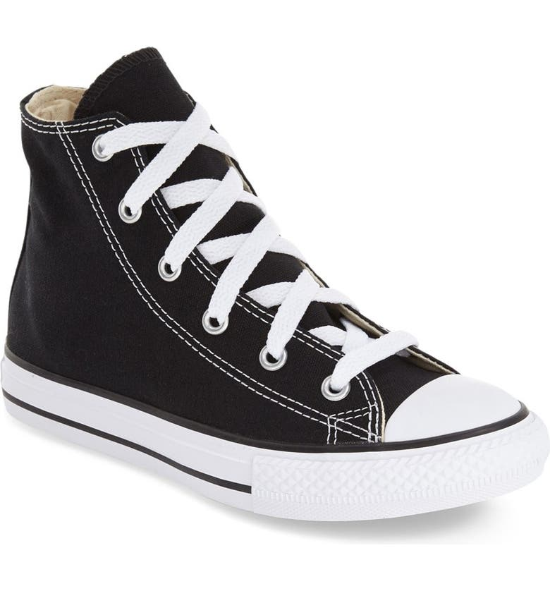 CONVERSE Chuck Taylor<sup>®</sup> All Star<sup>®</sup> High Top Sneaker, Main, color, BLACK