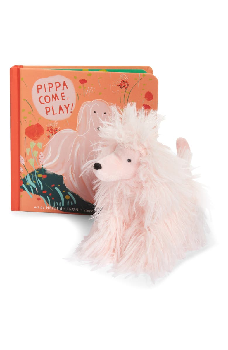 MANHATTAN TOY 'Pippa, Come Play' Book & Stuffed Animal Set, Main, color, MULTICOLORED