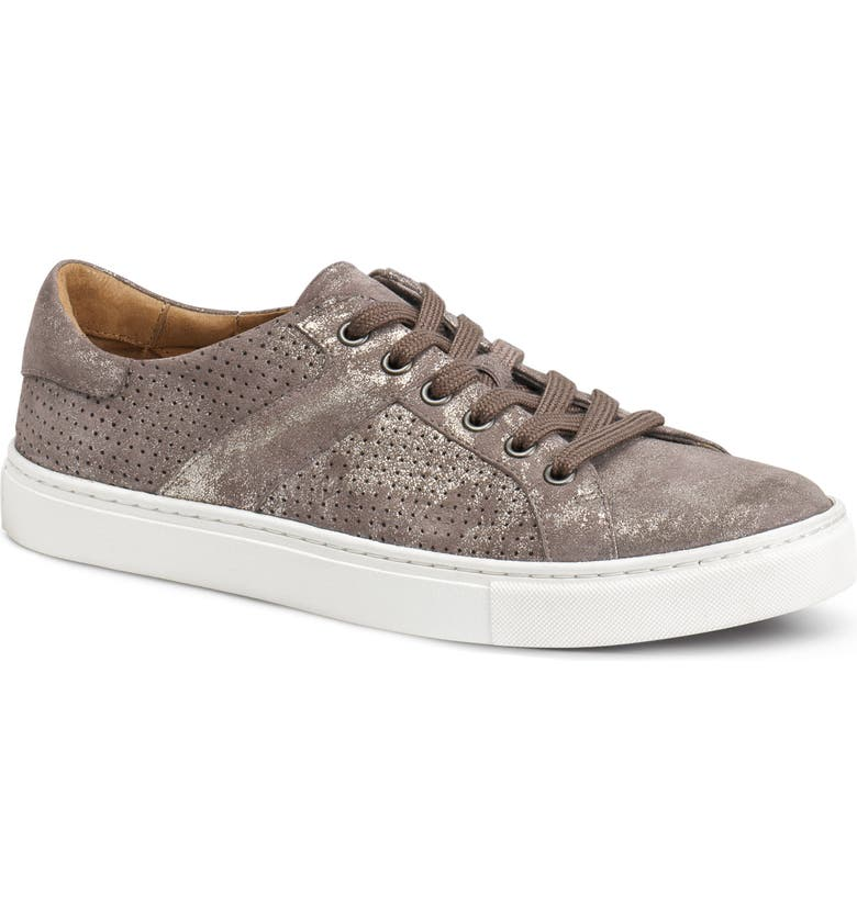 TRASK Lindsey Sneaker, Main, color, PEWTER SUEDE