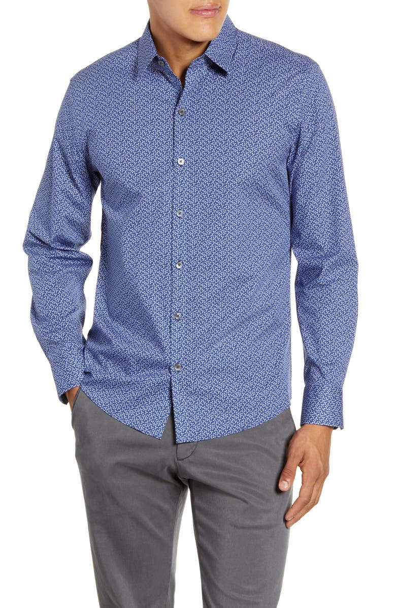 ZACHARY PRELL Wilkerson Regular Fit Button-Up Shirt, Main, color, 452