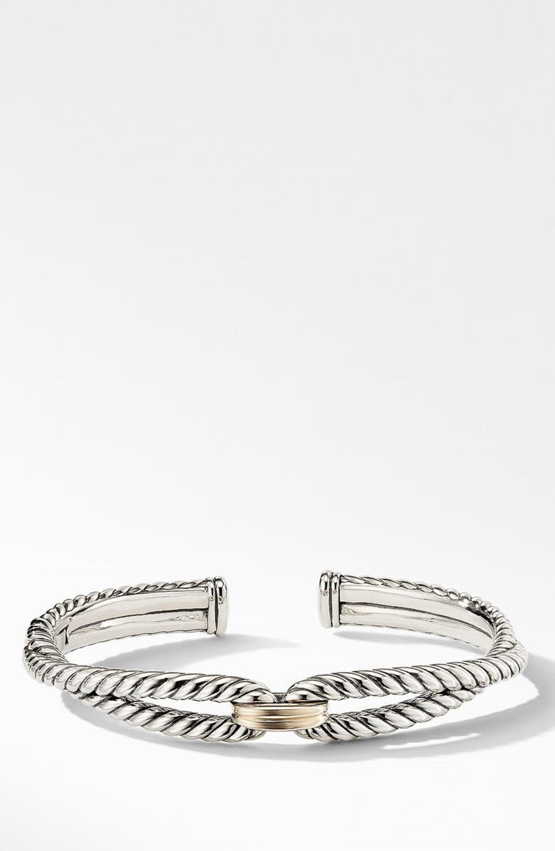 DAVID YURMAN Cable Loop Bracelet with 18K Gold, Main, color, YELLOW GOLD/ STERLING SILVER