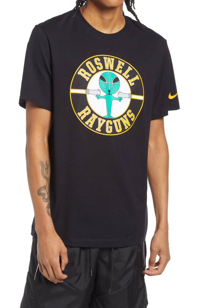 NIKE Basketball Roswell Rayguns Graphic Tee, Main, color, BLACK