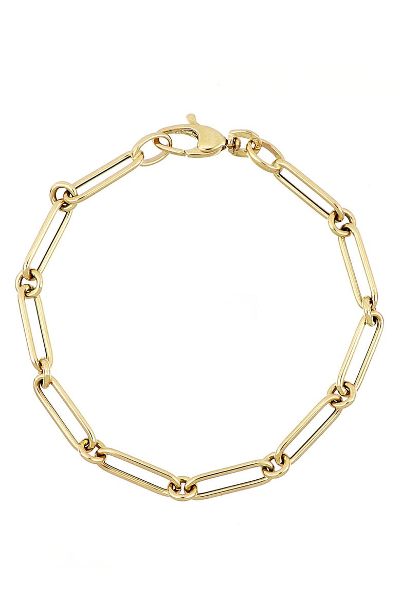 BONY LEVY Linked Chain Bracelet, Main, color, YELLOW GOLD