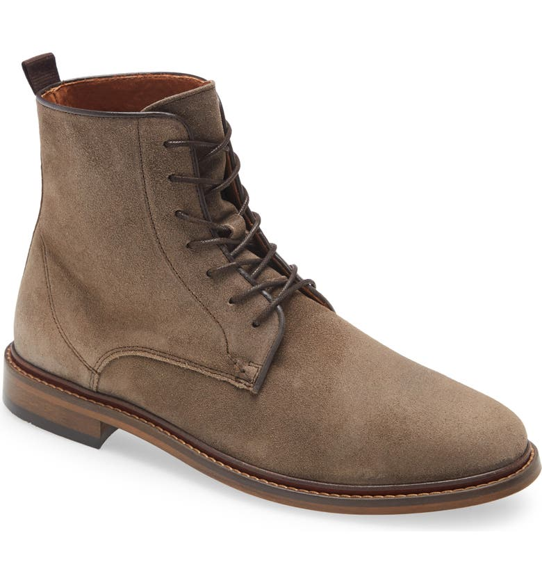SHOE THE BEAR Ned Plain Toe Boot, Main, color, TAUPE SUEDE