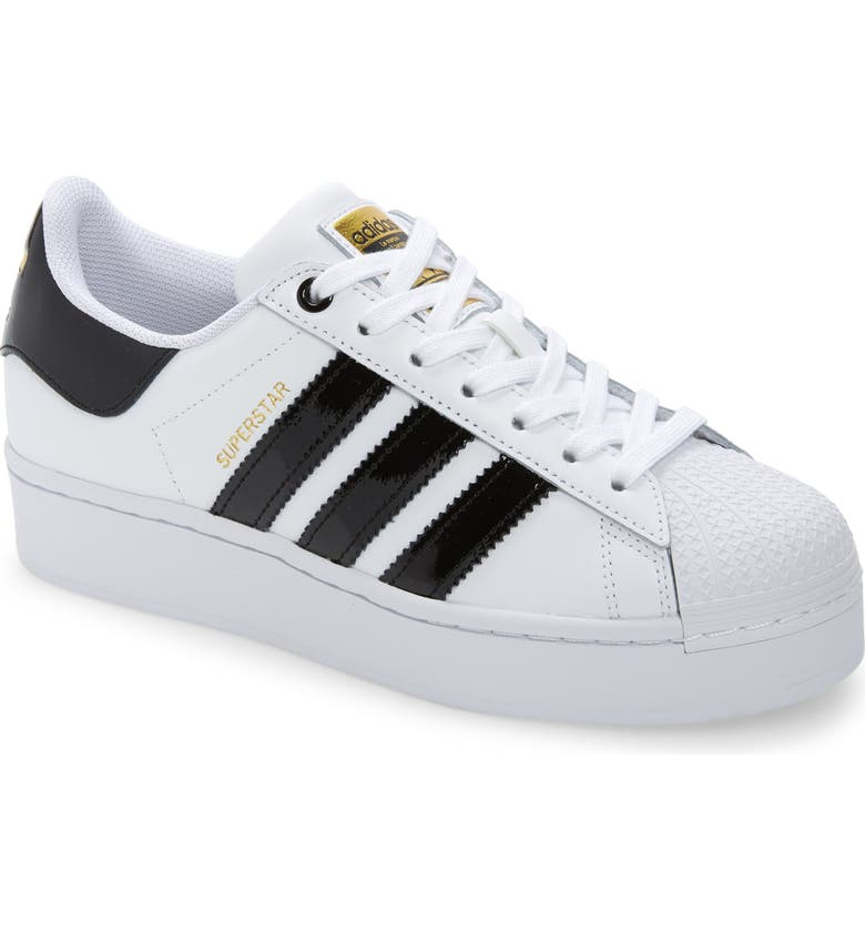 ADIDAS Superstar Bold Sneaker, Main, color, WHITE/ BLACK/ GOLD