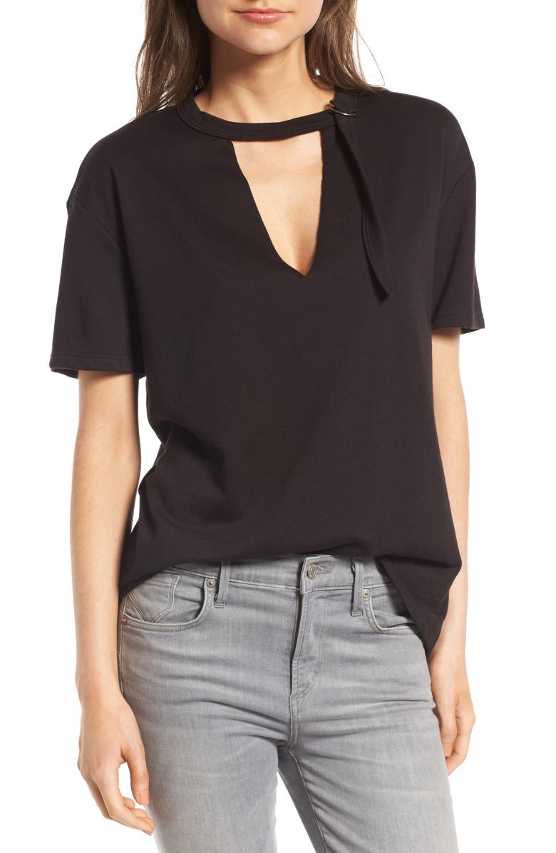 SOCIALITE D-Ring Tee, Main, color, 001