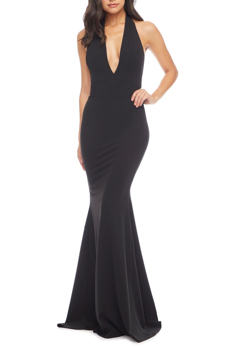 DRESS THE POPULATION Camden Mermaid Hem Evening Gown, Main, color, 001