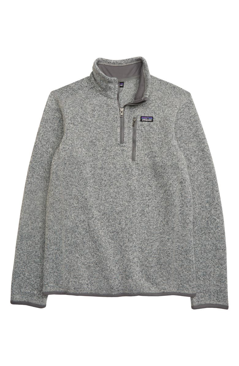 PATAGONIA Better Sweater<sup>®</sup> Quarter Zip Pullover, Main, color, 020