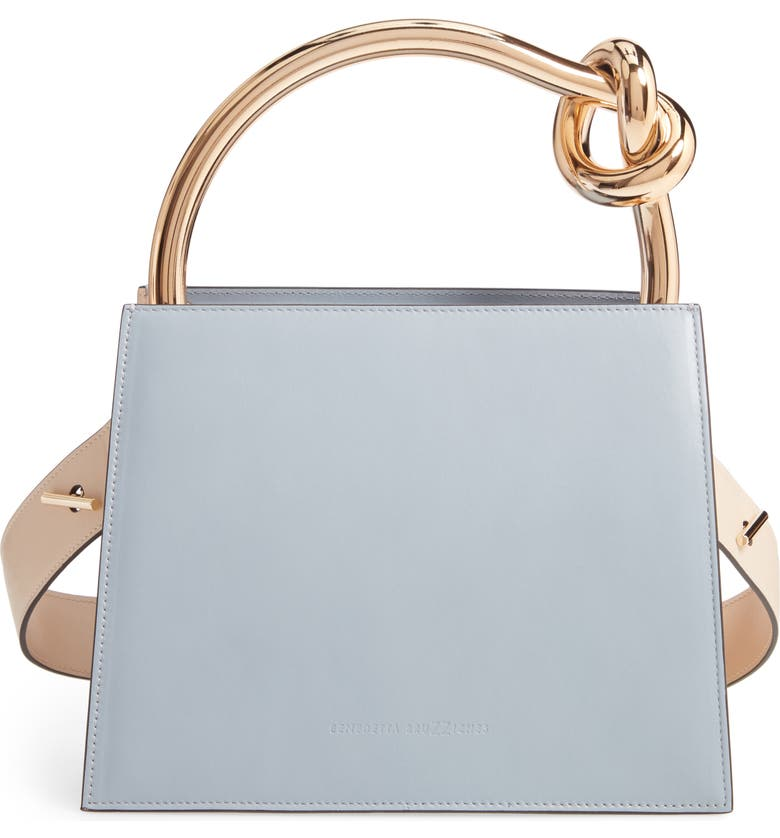 BENEDETTA BRUZZICHES Small Anais Calfskin Leather Top Handle Bag, Main, color, 400
