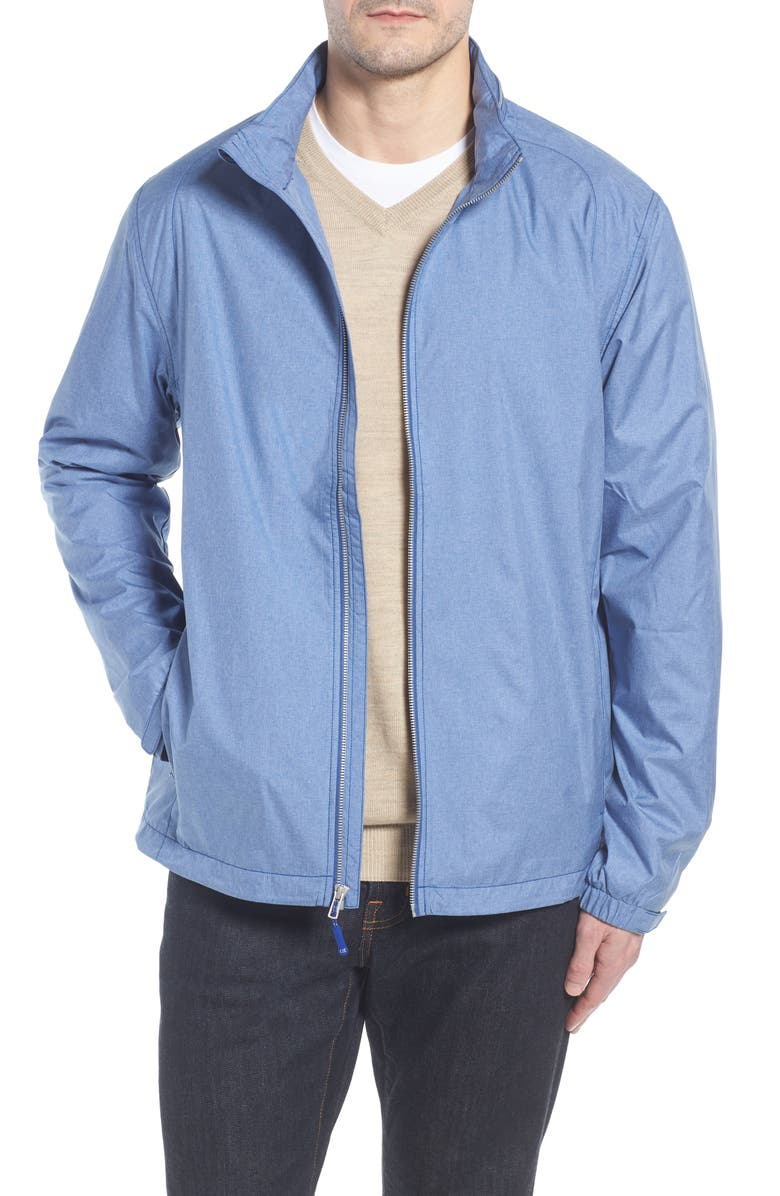 CUTTER & BUCK Panoramic Packable Jacket, Main, color, TOUR BLUE