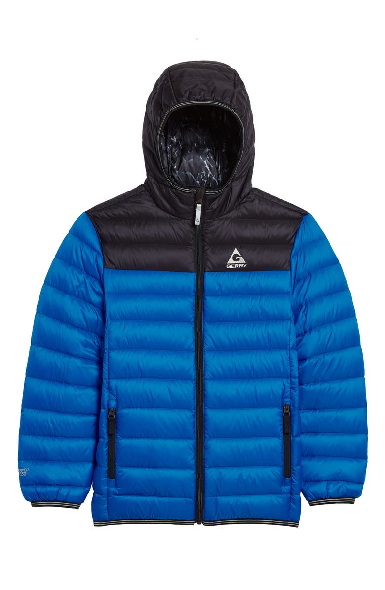 GERRY Mckinley Quilted Down Hooded Jacket, Main, color, OCEAN