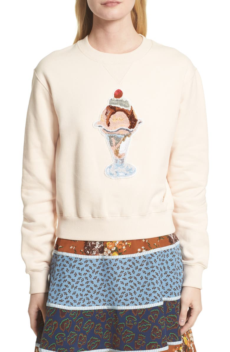 COACH 1941 Sequin Sundae Sweatshirt, Main, color, 683