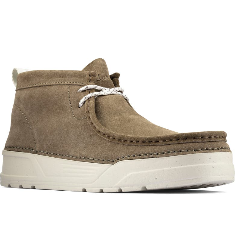 CLARKS<SUP>®</SUP> Origin Wallabee Moc Toe Boot, Main, color, OLIVE SUEDE