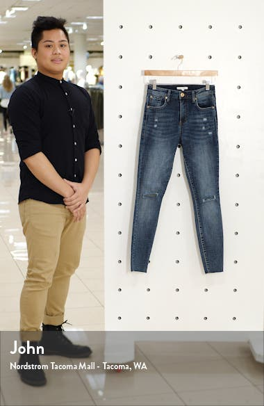Ellie Ripped High Waist Ankle Skinny Jeans, sales video thumbnail
