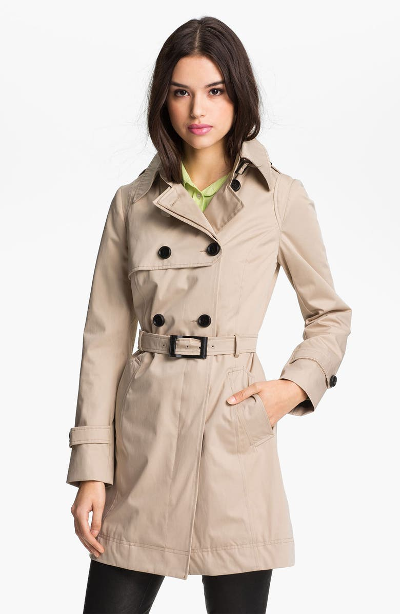 SOIA & KYO Soïa & Kyo Colorblock Sleeve Trench Coat, Main, color, 250