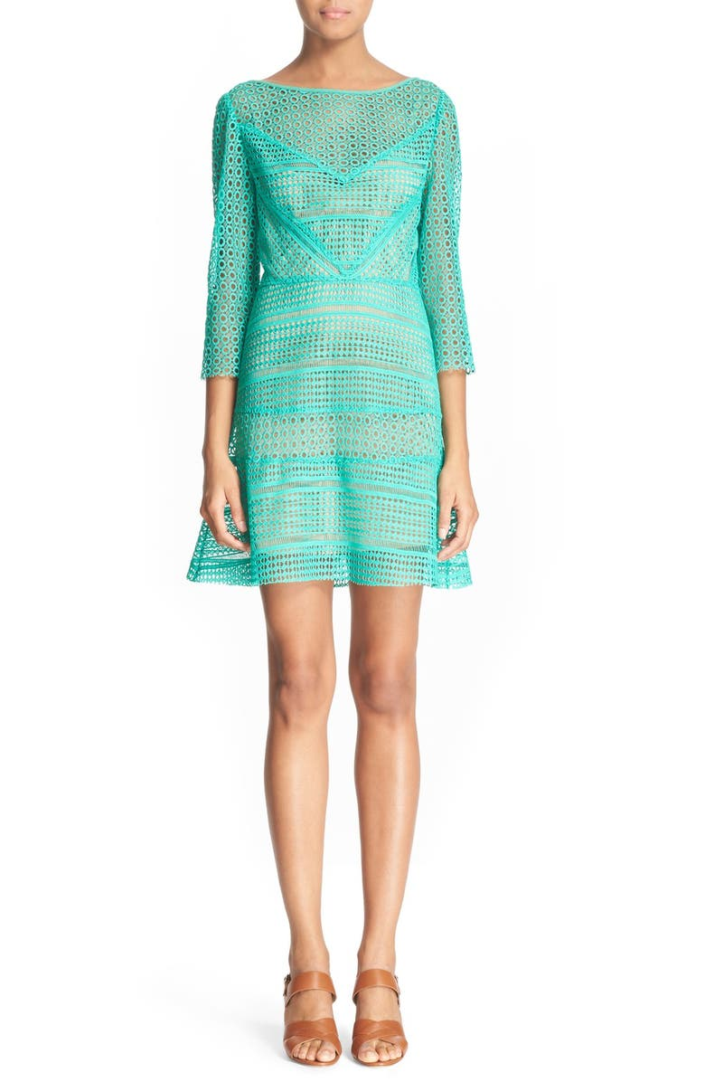 TRACY REESE Lace Shift Dress, Main, color, 440