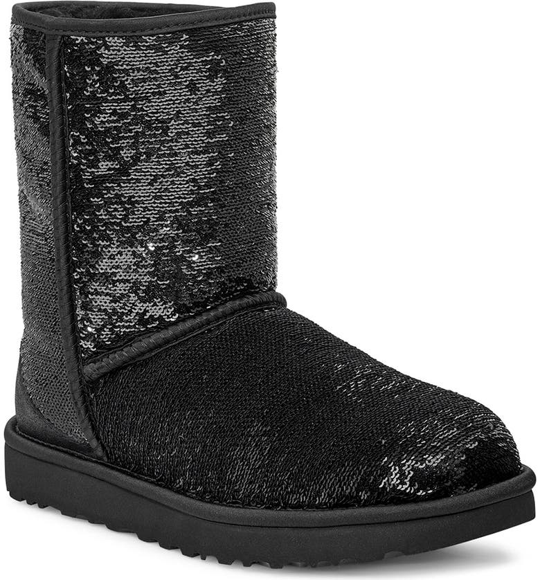 UGG<SUP>®</SUP> Classic Cosmos sequin Short Boot, Main, color, 006