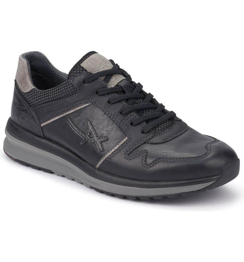 MEPHISTO Allrounder by Mephisto El Paso Sneaker, Main, color, BLACK TUMBLE/ BLACK WET WAX