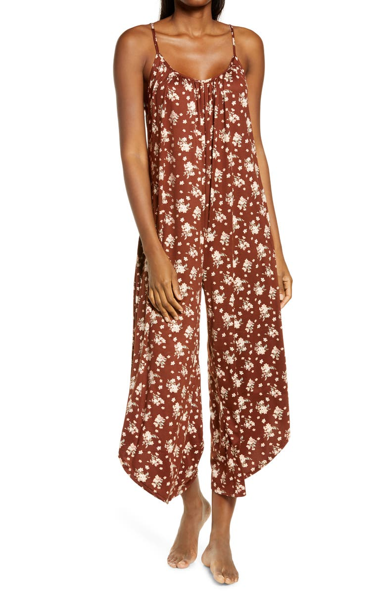 SOCIALITE Lounge Crop Jumpsuit, Main, color, FLORAL