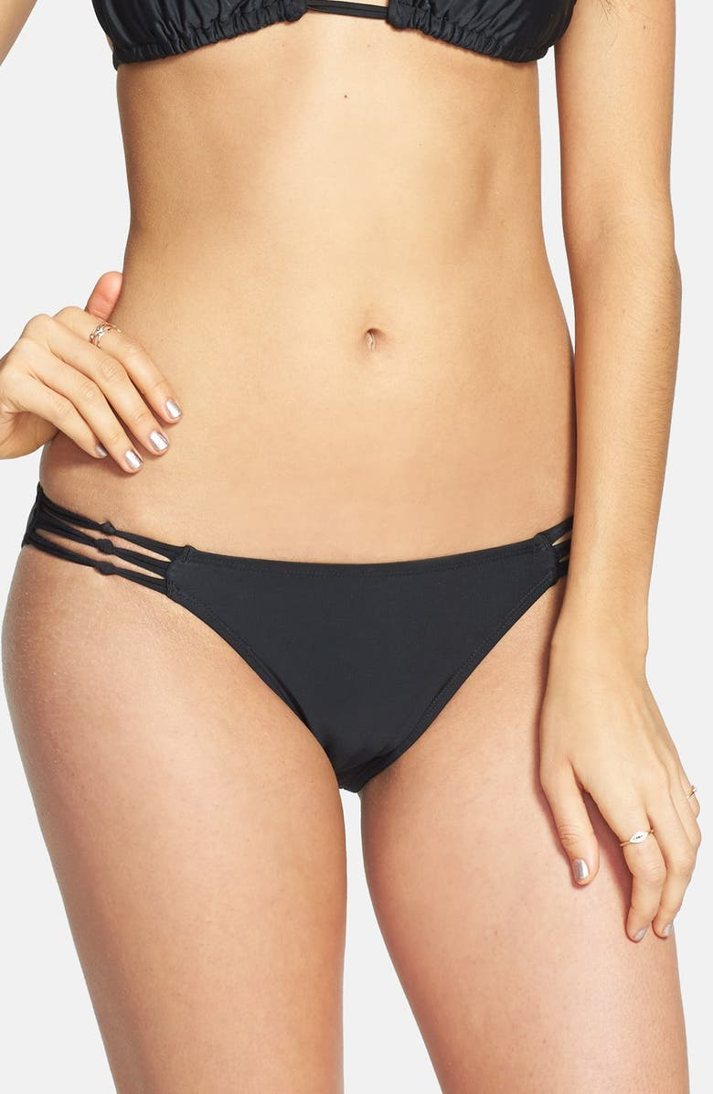 BP. UNDERCOVER Knotted Side Bikini Bottoms, Main, color, 001