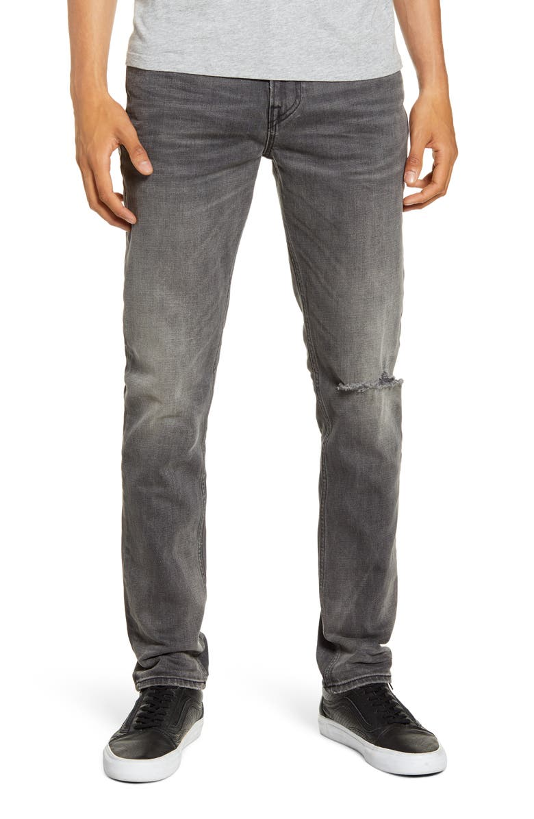 HUDSON JEANS Axl Ripped Skinny Fit Jeans, Main, color, 020