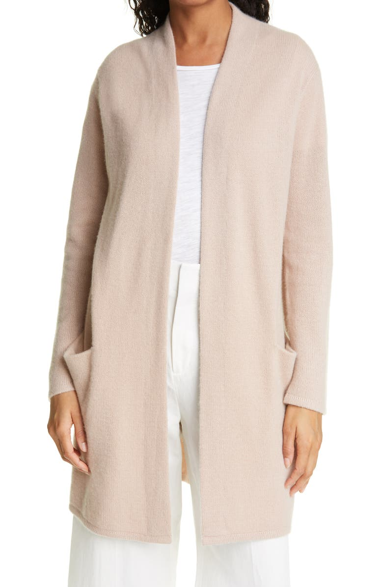 JENNI KAYNE Open Front Cashmere Sweater Coat, Main, color, TAUPE