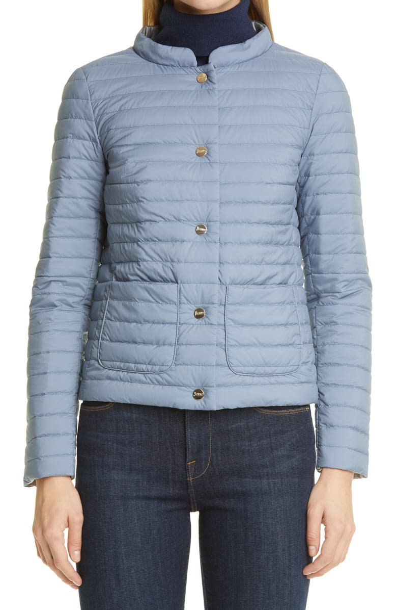 HERNO Reversible Water Repellent Down Puffer Jacket, Main, color, AZZURRO
