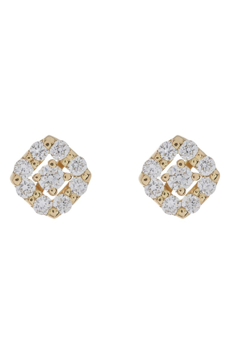 BONY LEVY 18K Yellow Gold Pave Stud Earrings, Main, color, 18K YELLOW GOLD