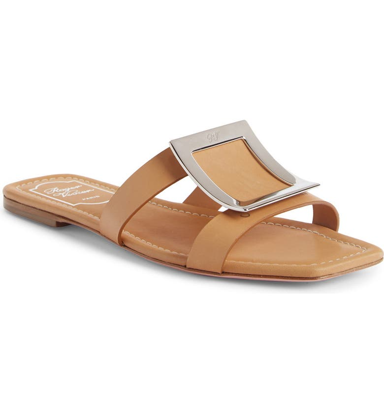 ROGER VIVIER Bikiviv Slide Sandal, Main, color, TAN
