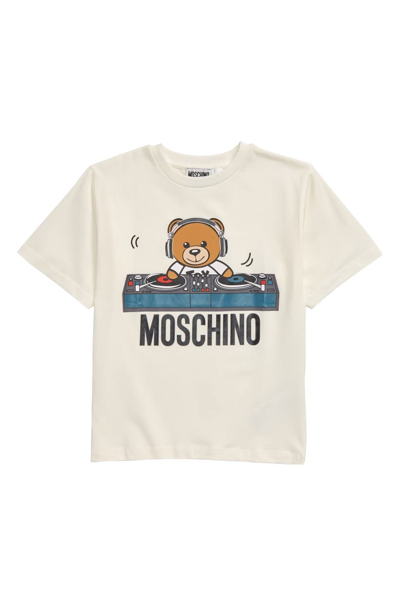 MOSCHINO DJ Toy Bear Graphic T-Shirt, Main, color, 101