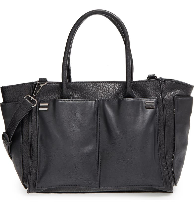 SOLE SOCIETY 'Medium Rebekah' Faux Leather Tote, Main, color, 001