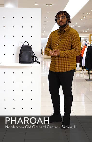 Aushan Faux Leather Backpack, sales video thumbnail