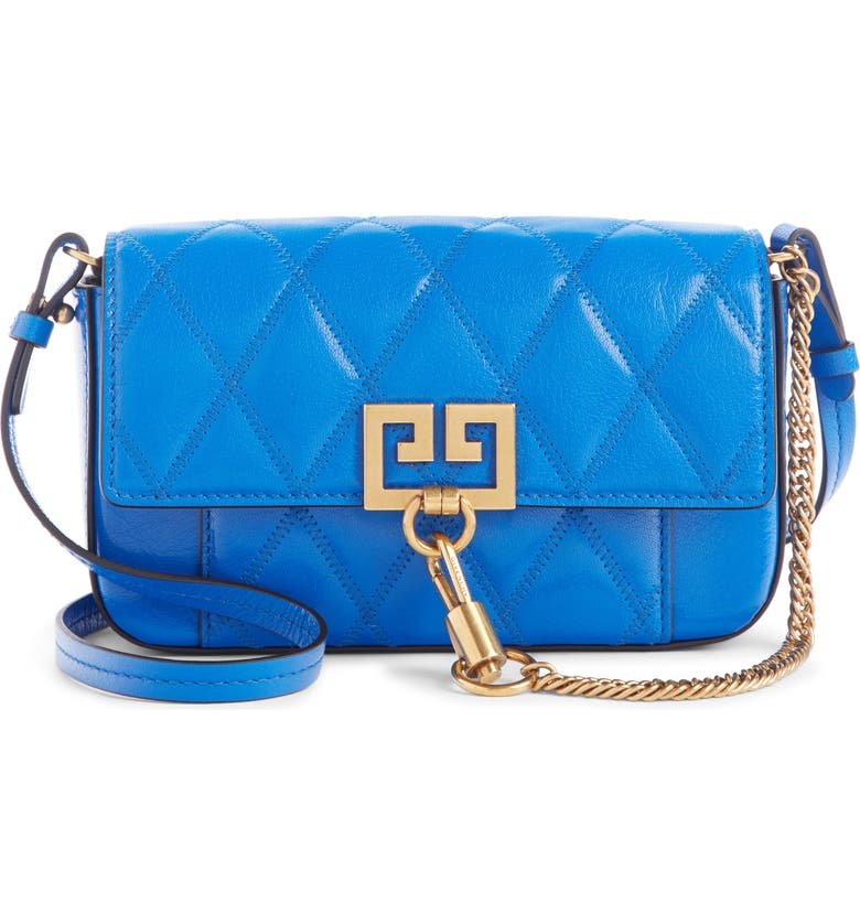GIVENCHY Mini Pocket Quilted Convertible Leather Bag, Main, color, 400