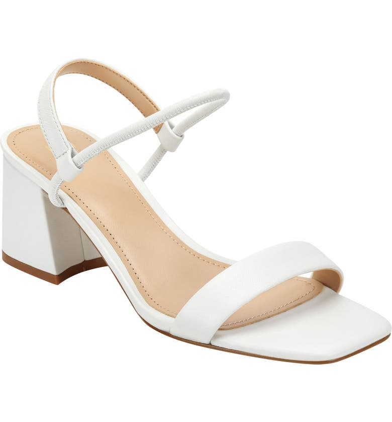 MARC FISHER LTD Nabela Sandal, Main, color, WHITE LEATHER