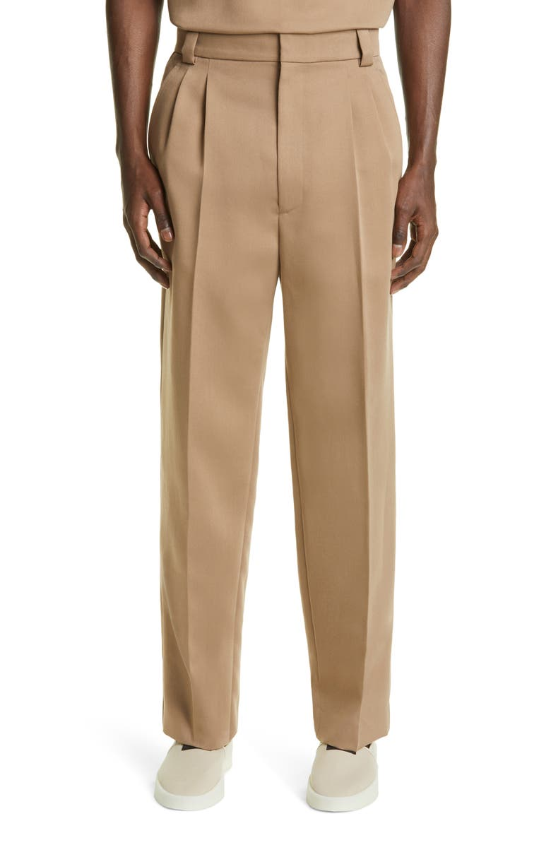 FEAR OF GOD Pleated Pants, Main, color, TAUPE