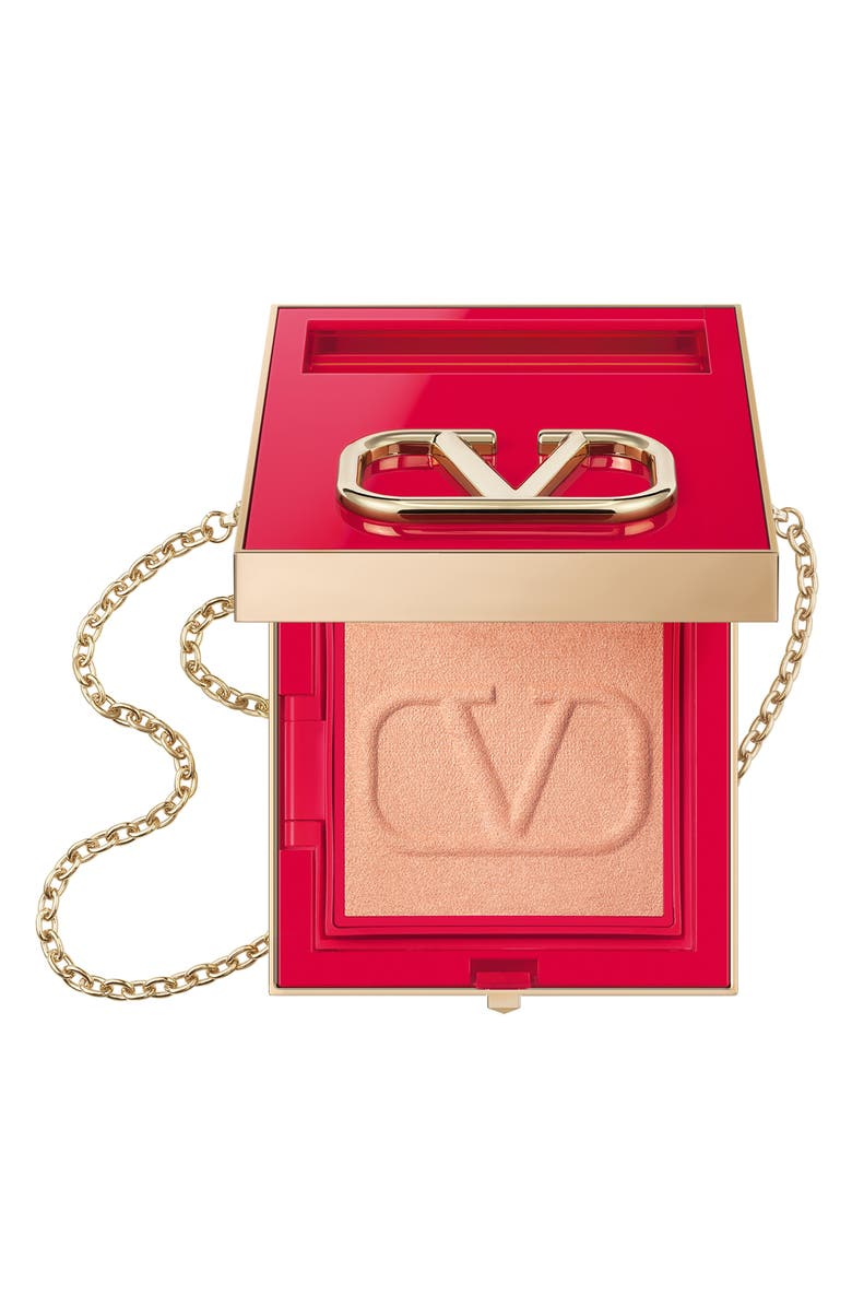 VALENTINO Go-Clutch Refillable Compact Finishing Powder, Main, color, 02 LIGHT
