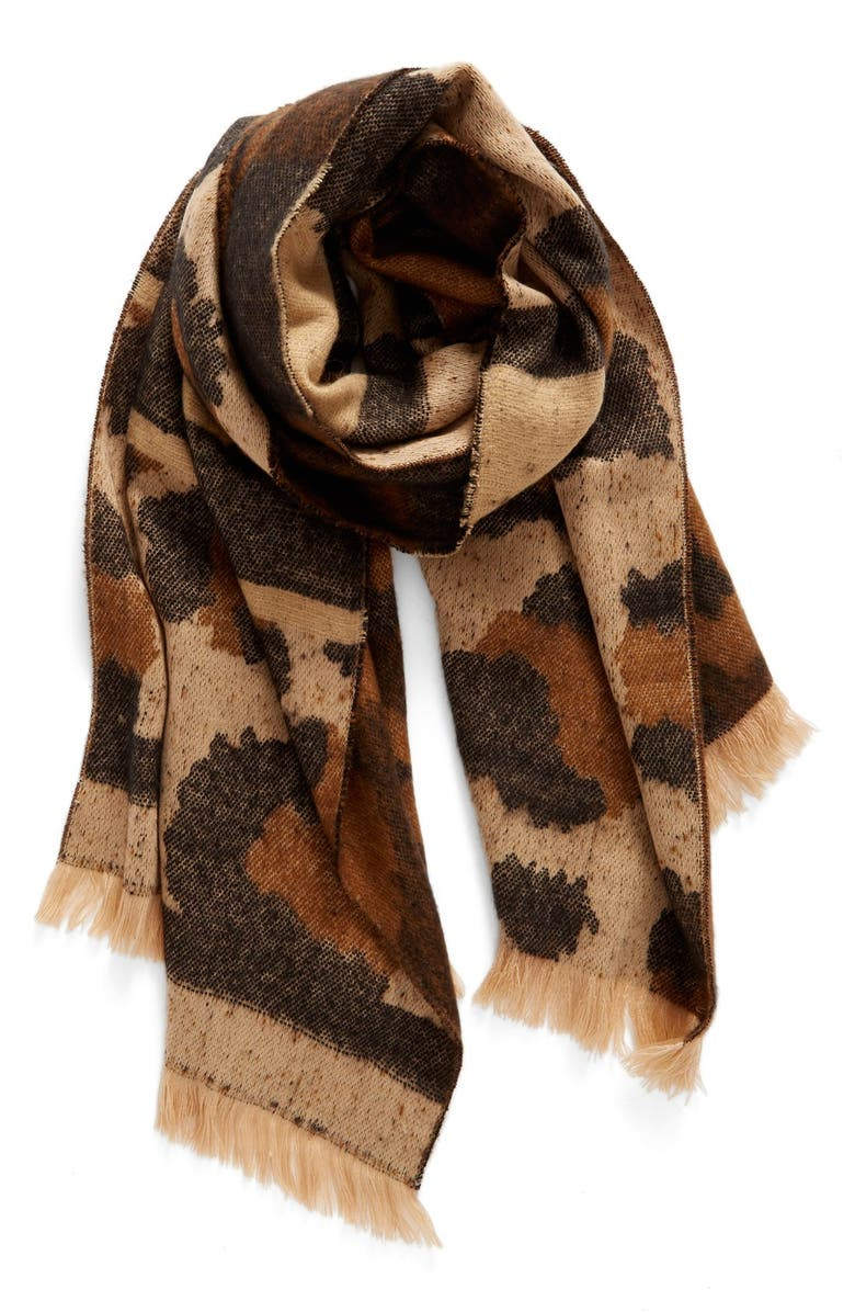 BP. Mixed Leopard Pattern Scarf, Main, color, 210