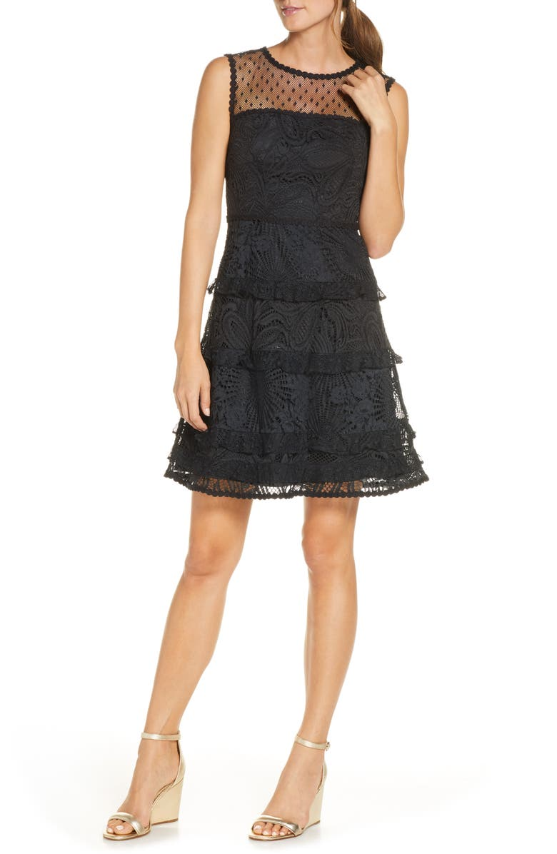 LILLY PULITZER<SUP>®</SUP> Kasee Sleeveless Lace Minidress, Main, color, 002