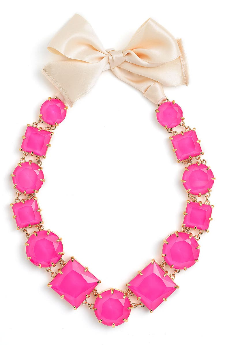 KATE SPADE NEW YORK 'crystal kaleidoscope' long statement necklace, Main, color, 650