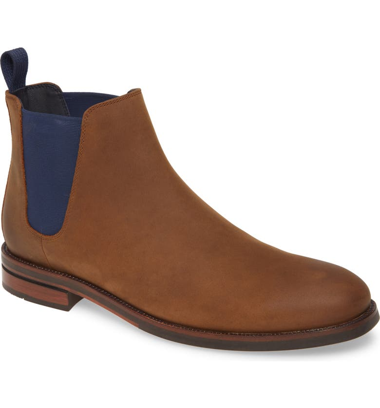 COLE HAAN Wakefield Grand Waterproof Chelsea Boot, Main, color, DOGWOOD/ PEACOAT LEATHER